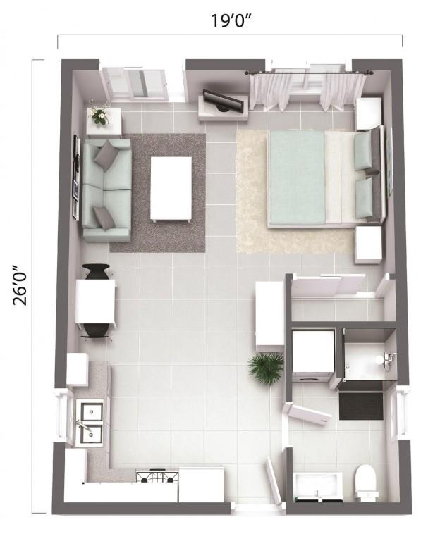 ADU – The Santa Cruz 494 Floorplan