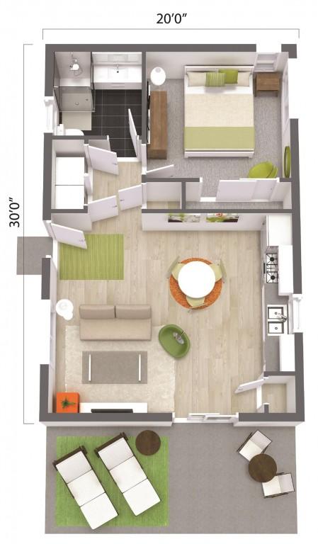 ADU – The Irvine 600 Floorplan