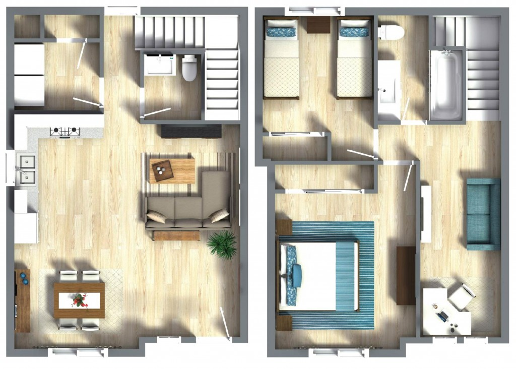 ADU – The Huntington Beach 1148 Floorplan