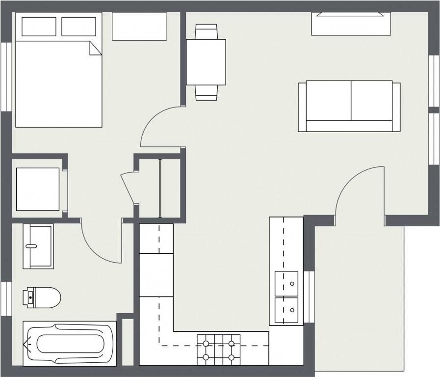 ADU – Cottage Home #1 Floorplan