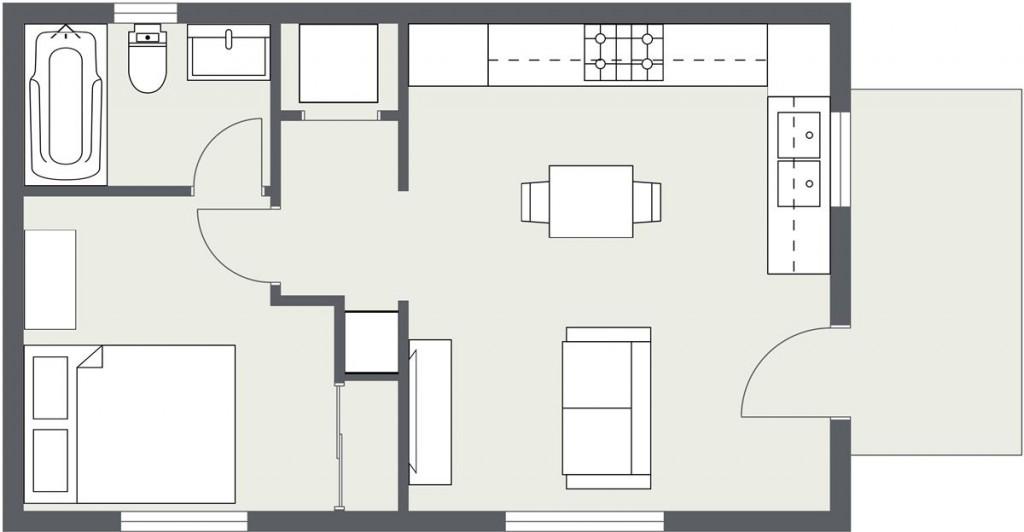 ADU – Cottage Home #2 Floorplan