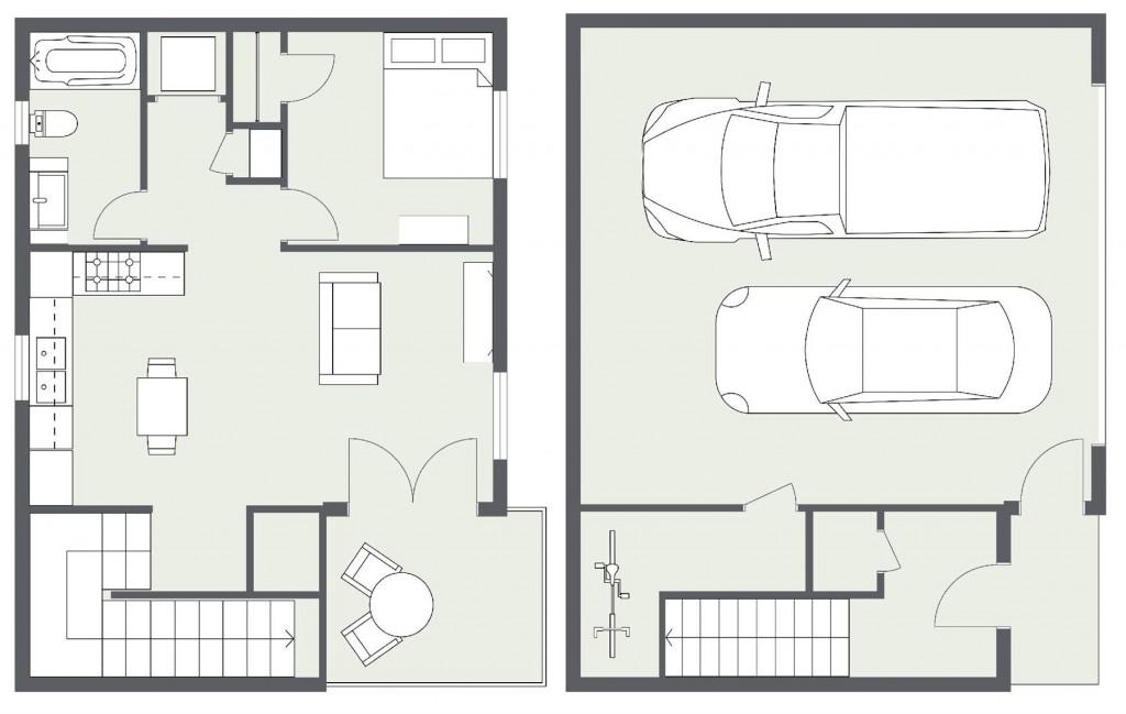 ADU – Cottage Home #3 Floorplan