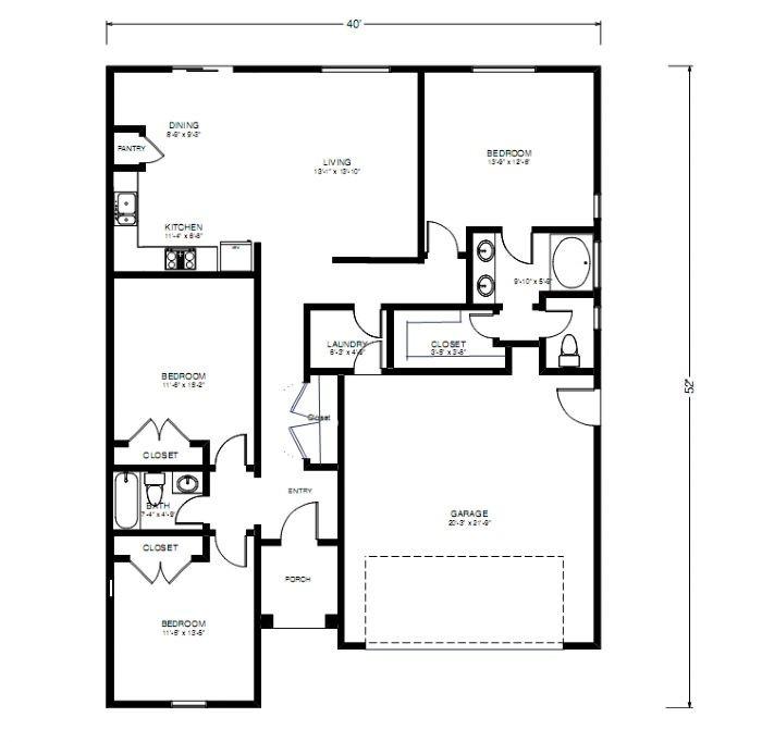 Sequoia Lodge 1432 Floorplan