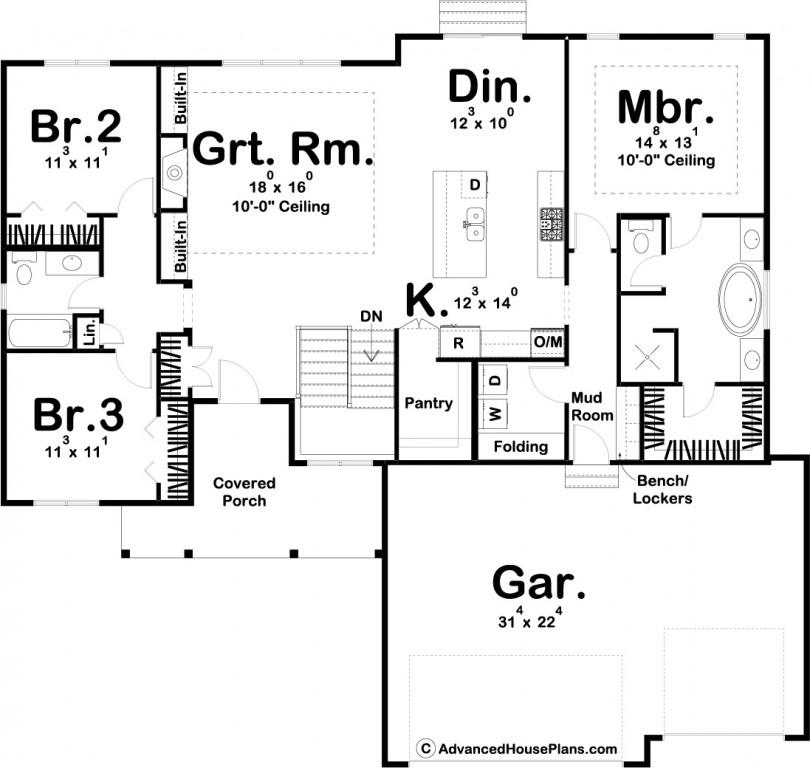 Meadow View 1914 Floorplan