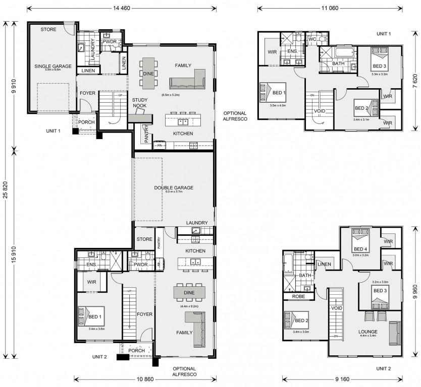 Caulfield 405 Floorplan