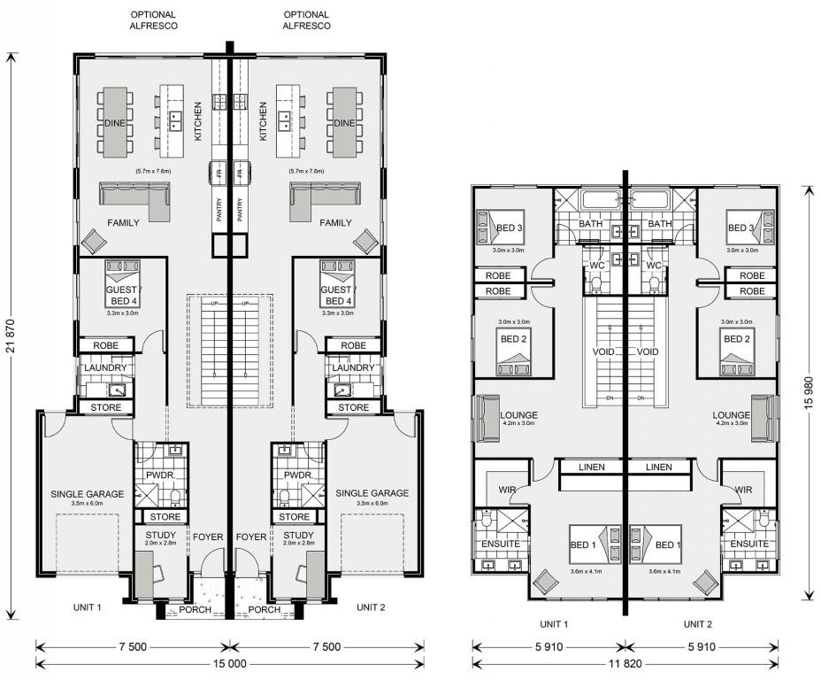 Chadstone Duplex 230 Floorplan