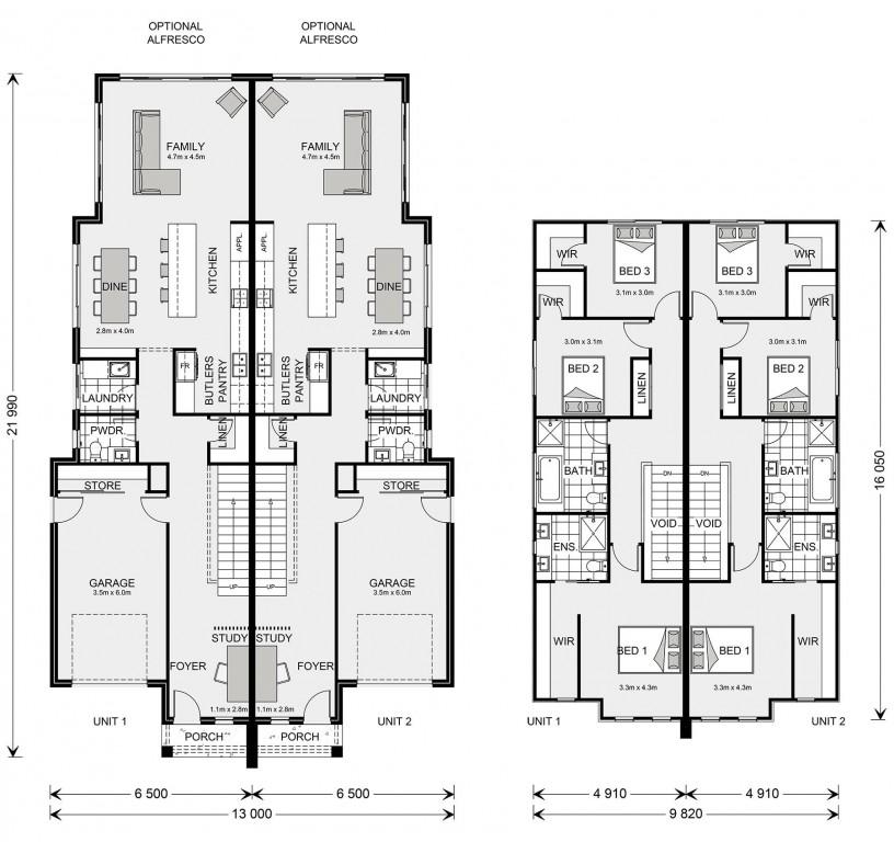 Essendon 200 Duplex Floorplan