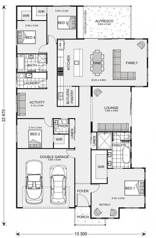 Long Bay 270 Floorplan