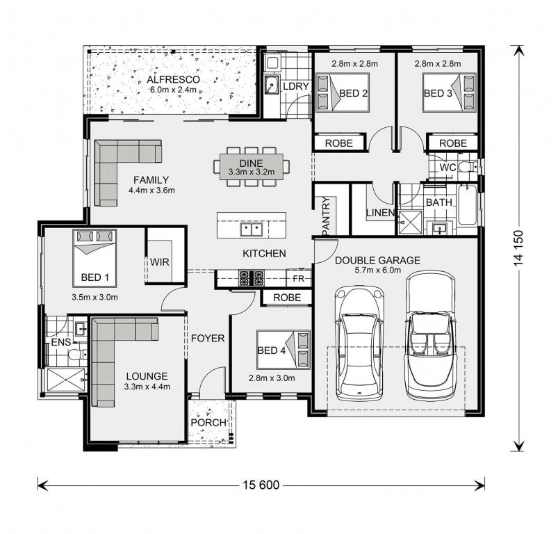 Wide Bay 196 Floorplan