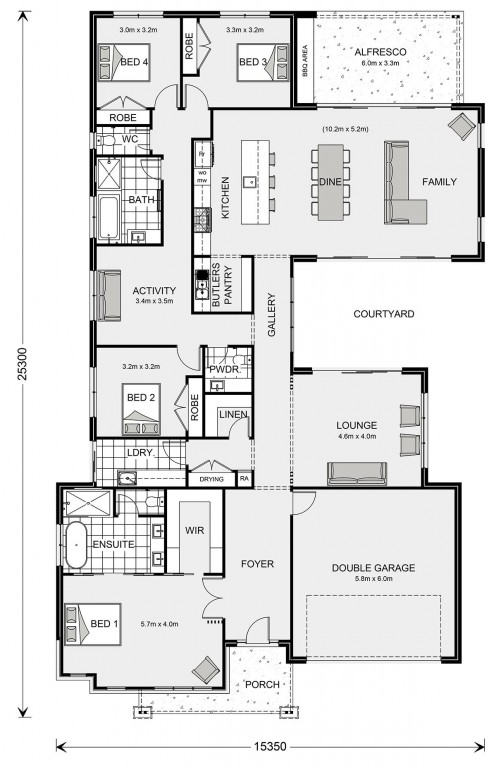 Beachmere 308 Floorplan