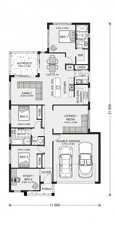 Edgewater 205 Floorplan