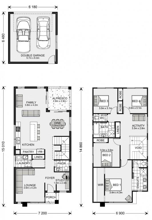 Manhattan Rear Lane Floorplan