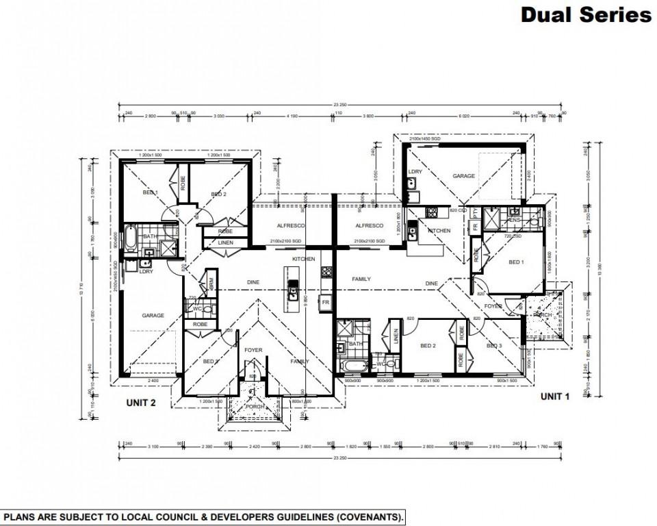 Oxley Duplex 242 Floorplan