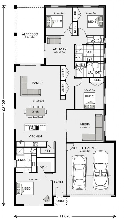 Pacific 208 Floorplan