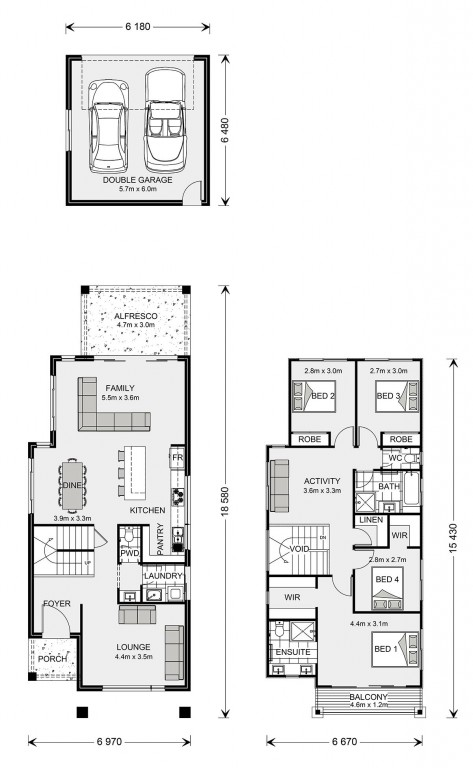 Pine Rivers Rear Lane Floorplan