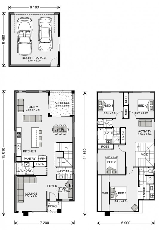 Manhattan Rear Lane Floorplan