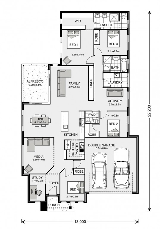 Bedarra 233 Floorplan