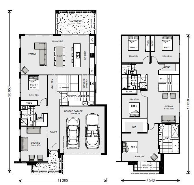Freshwater 315 Floorplan