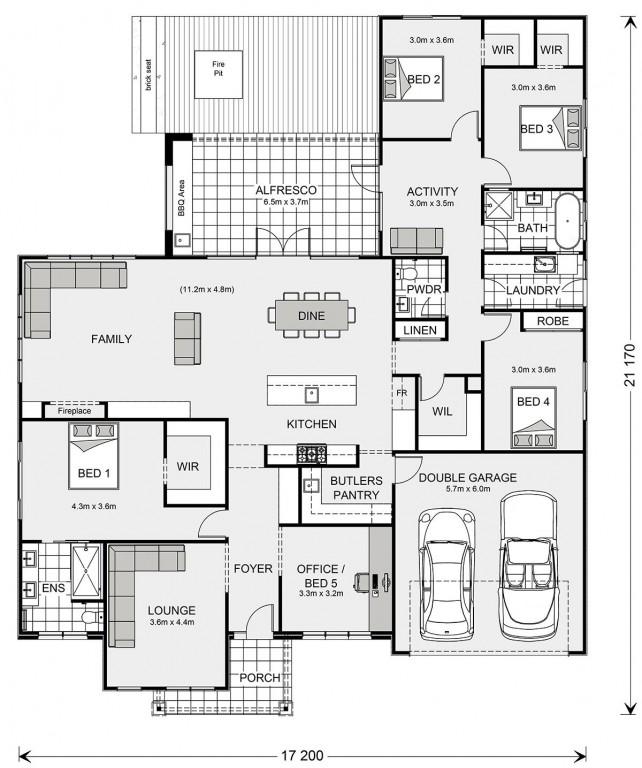 Wide Bay 284 Floorplan
