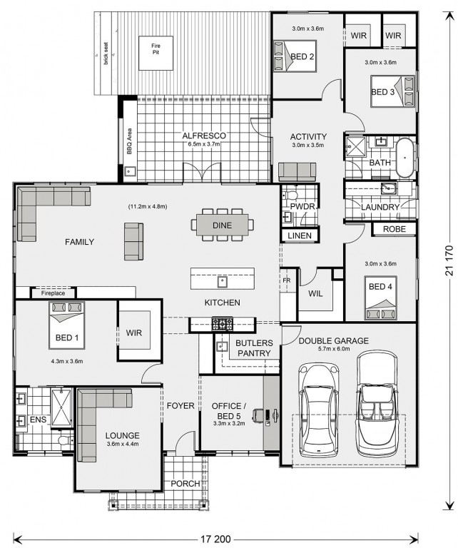 Wide Bay 284. Floorplan