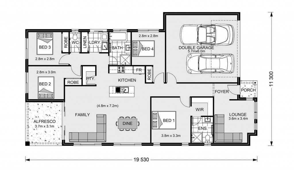 Claremont 195 Floorplan
