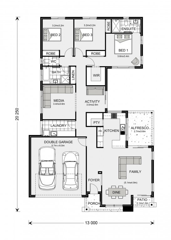 Lakeview 212 Floorplan