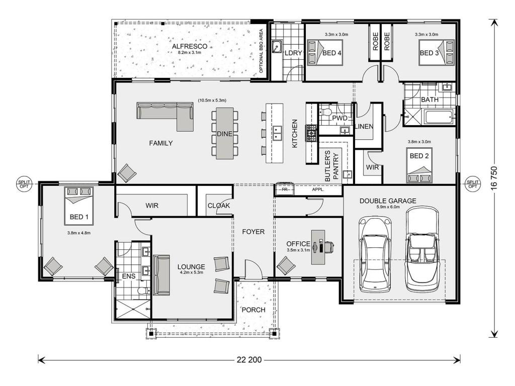 Aspen 305 Floorplan