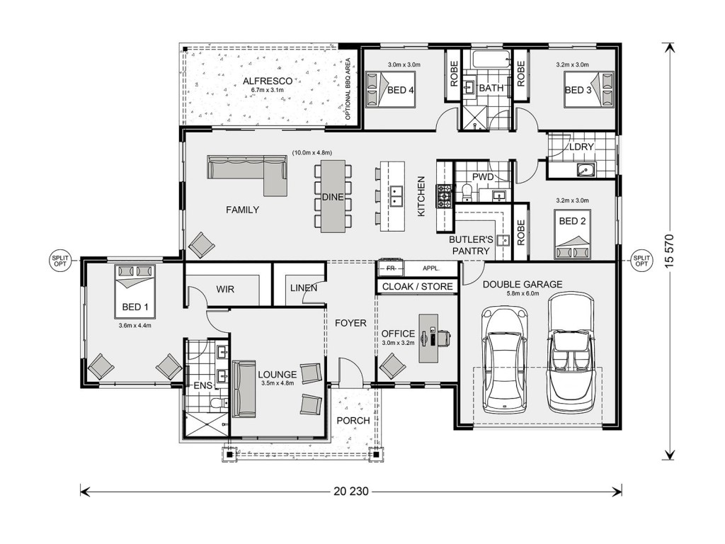 Aspen 260 Floorplan