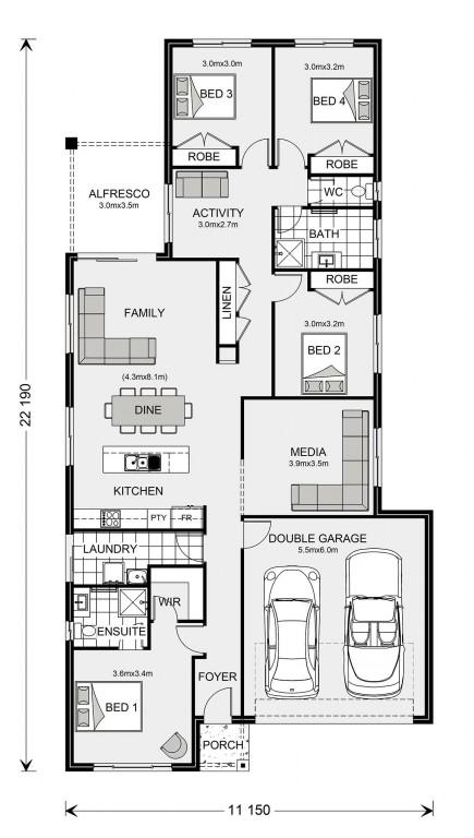 Pacific 208 Floorplan