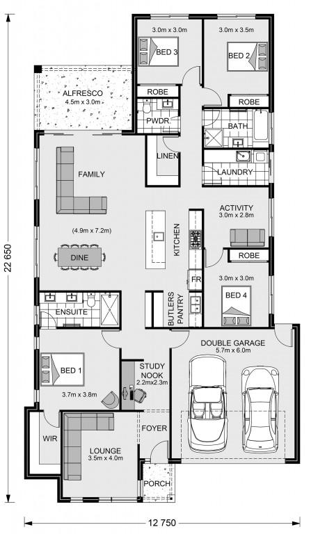 Claremont 240 Floorplan