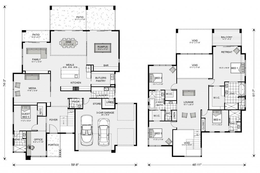 Blue Water 3810 Floorplan