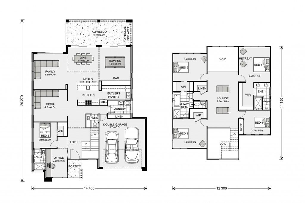 Blue Water 386 Floorplan