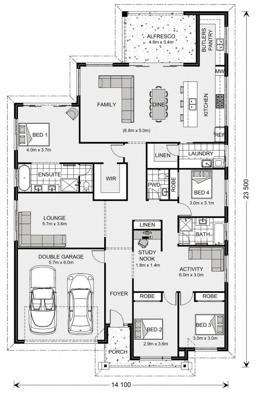 Newport 284 Floorplan