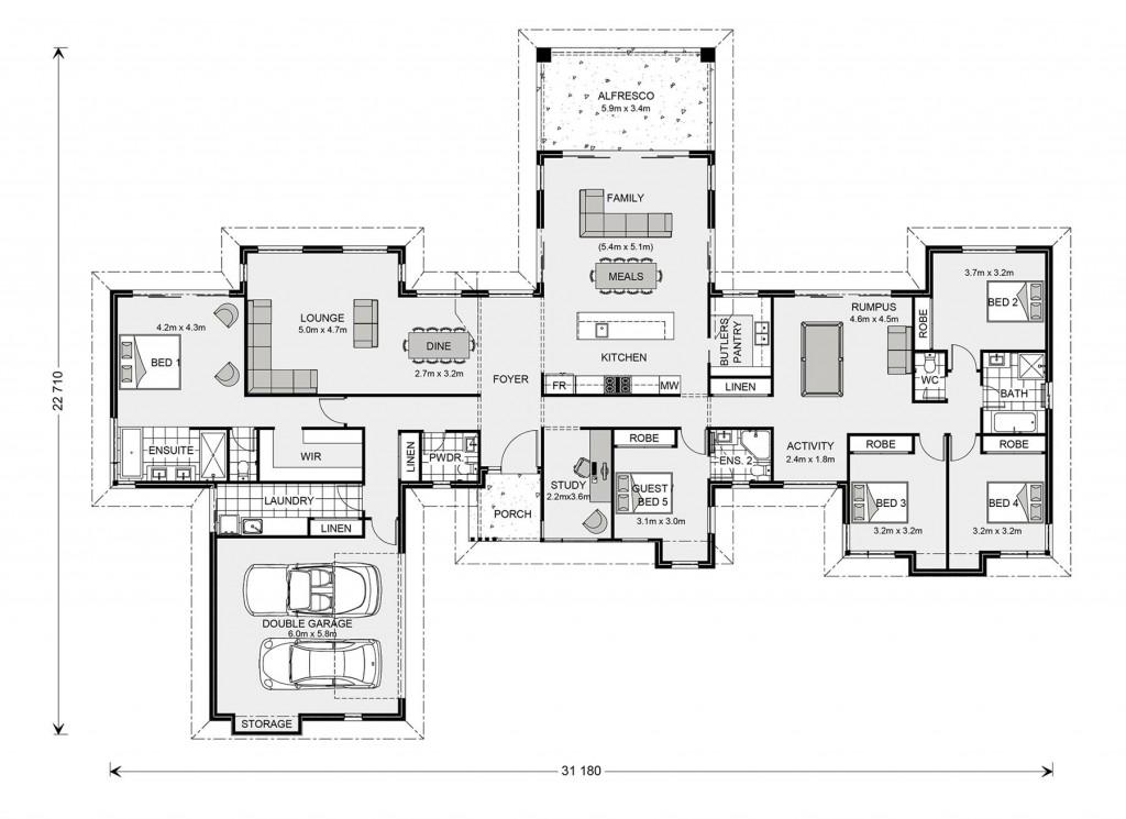 Mansfield 350 Floorplan
