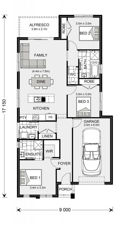 Stonehaven 140 Floorplan