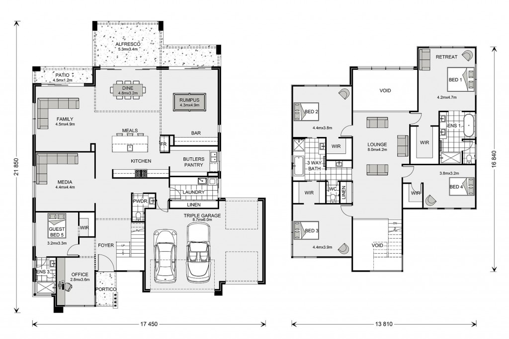 Blue Water 470 Floorplan