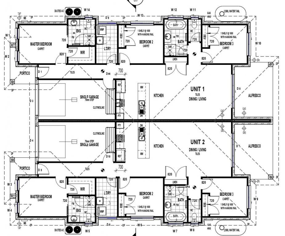 Kooyong Duplex 235 Floorplan