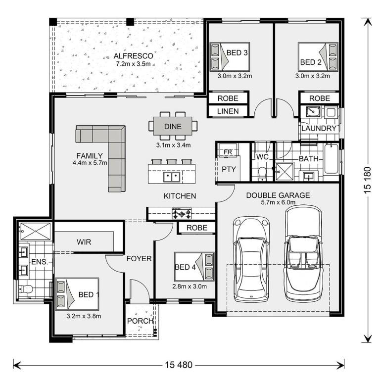 Wide Bay NQ 204 Floorplan