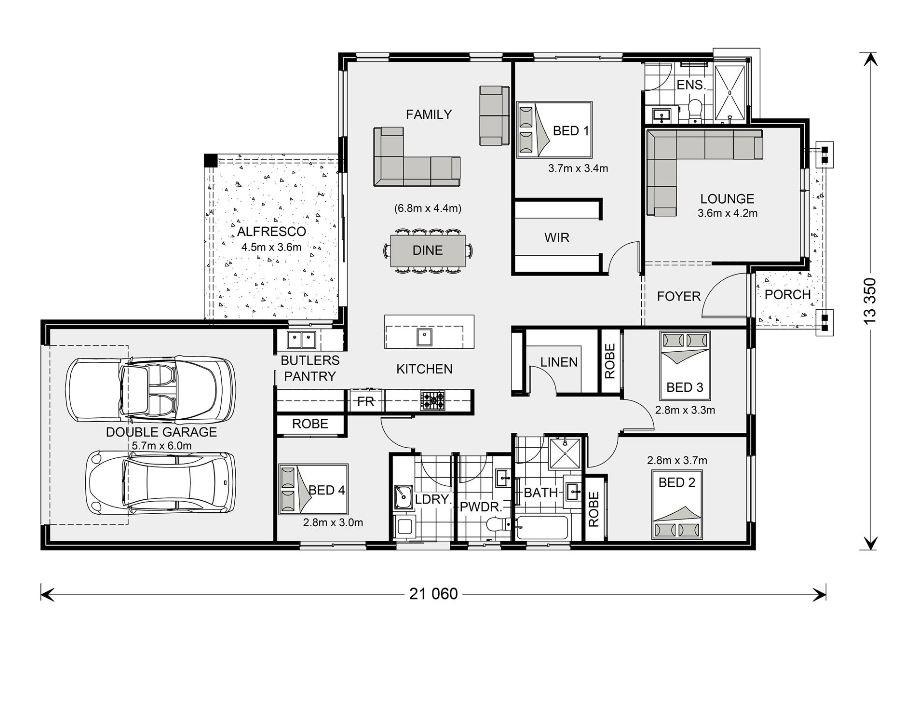 Vista Rear Lane Floorplan