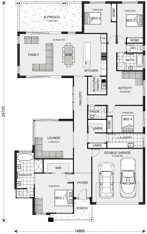 Beachmere 303 Floorplan