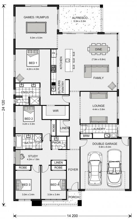 Broadbeach 300 Floorplan