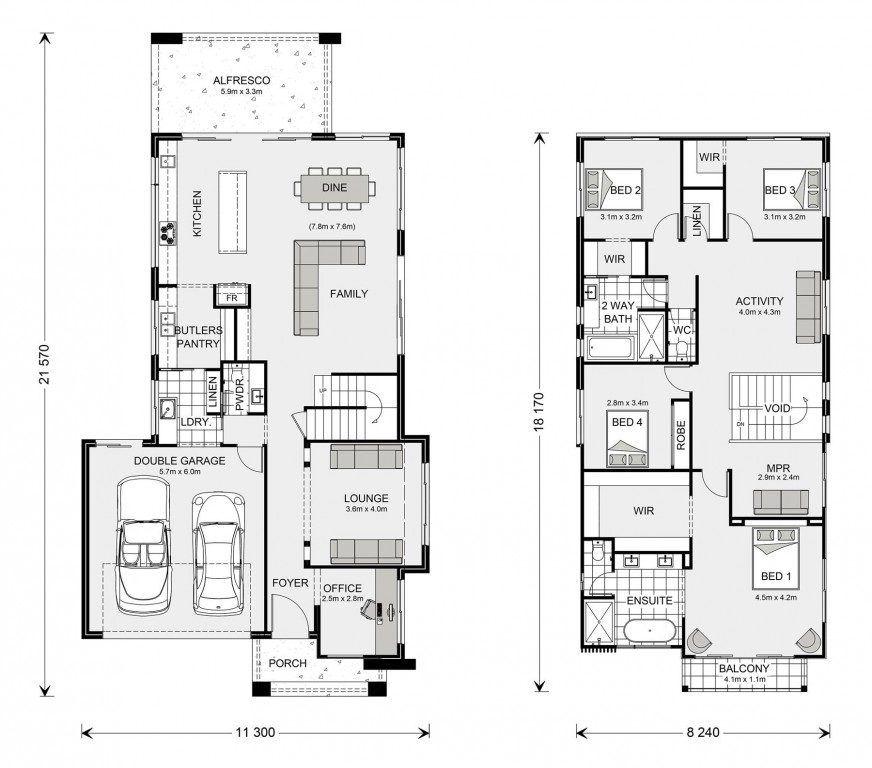 Kingscliff 324 Floorplan