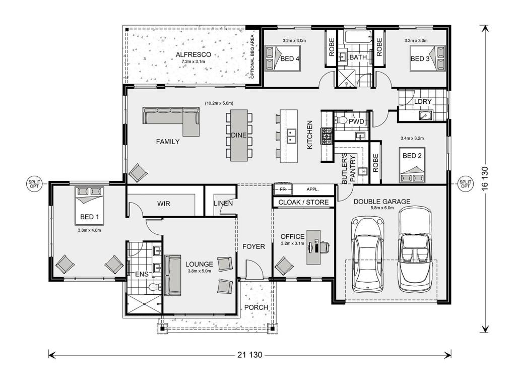 Aspen 280 Floorplan