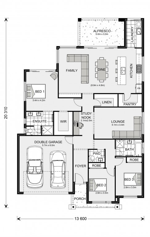 Newport 230 Floorplan