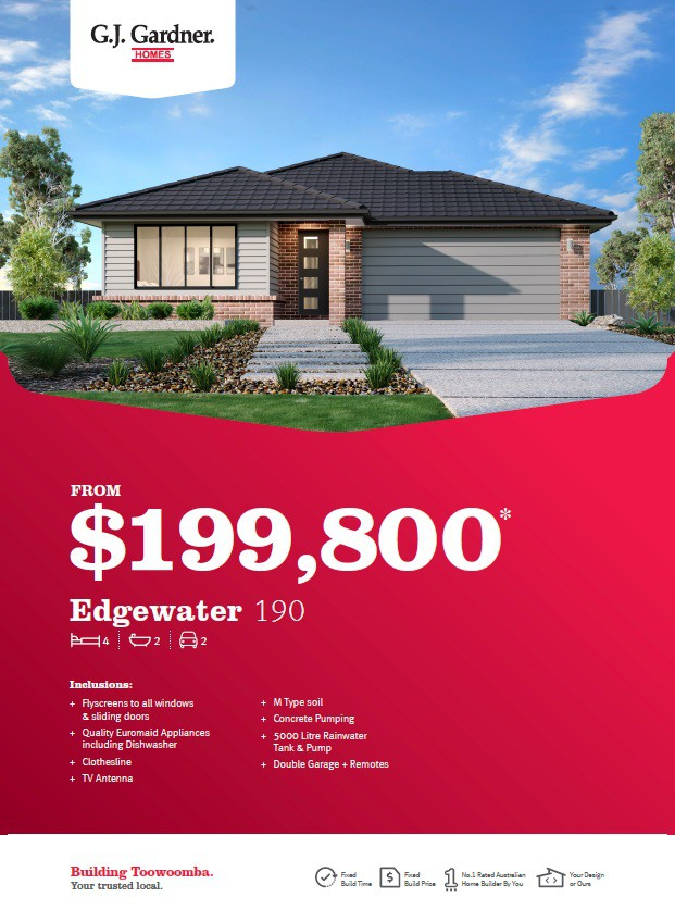 Our Edgewater 190 Design from $199,800