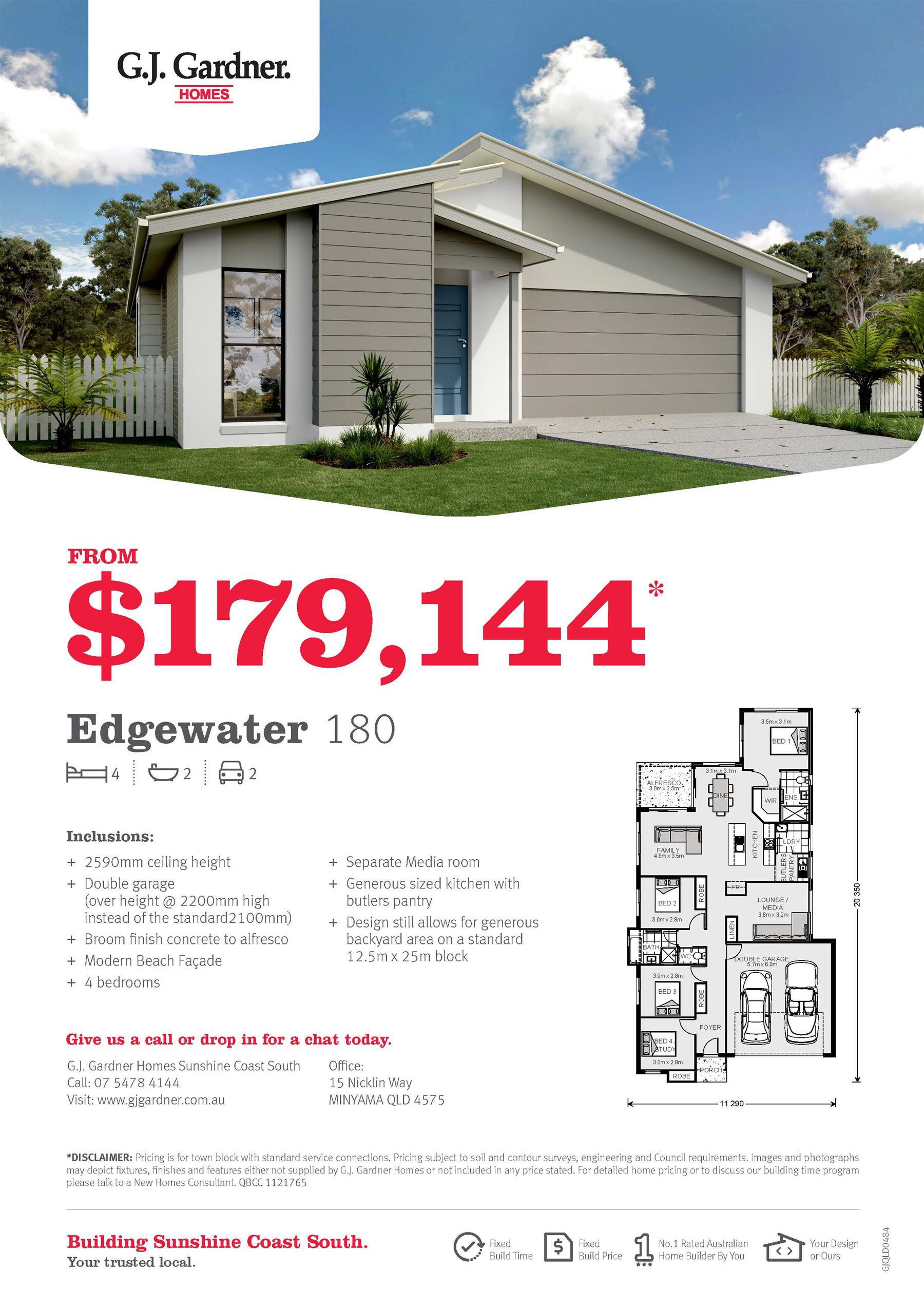 Be in your own home from $179,144